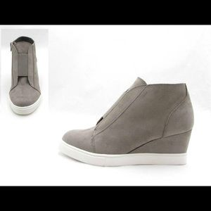 Ingrid grey sneaker wedge